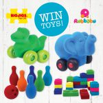 WIN natural rubber toys from Rubbabu